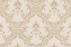 6376-14 cikkszámú tapéta.Barokk-klasszikus,csillámos,különleges felületű,bézs-drapp,gyöngyház,lemosható,vlies tapéta