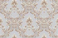 6376-31 cikkszámú tapéta.Barokk-klasszikus,csillámos,különleges felületű,bronz,gyöngyház,kék,lemosható,vlies tapéta