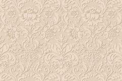 6378-02 cikkszámú tapéta.Barokk-klasszikus,különleges felületű,bézs-drapp,lemosható,vlies tapéta
