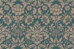 6378-07 cikkszámú tapéta.Barokk-klasszikus,különleges felületű,barna,zöld,lemosható,vlies tapéta