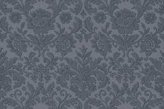 6378-08 cikkszámú tapéta.Barokk-klasszikus,különleges felületű,kék,lemosható,vlies tapéta