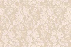 6379-02 cikkszámú tapéta.Barokk-klasszikus,különleges felületű,virágmintás,bézs-drapp,lemosható,vlies tapéta