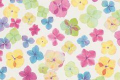 6339-17 cikkszámú tapéta.Csillámos,különleges felületű,különleges motívumos,rajzolt,természeti mintás,virágmintás,kék,lila,narancs-terrakotta,pink-rózsaszín,sárga,vajszínű,zöld,lemosható,vlies tapéta
