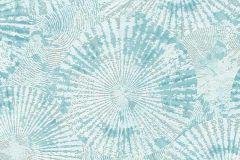 6473-18 cikkszámú tapéta.Absztrakt,geometriai mintás,különleges felületű,retro,virágmintás,kék,türkiz,lemosható,vlies tapéta