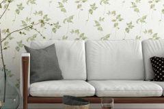 6489-07 cikkszámú tapéta.Különleges felületű,retro,természeti mintás,virágmintás,bézs-drapp,szürke,zöld,lemosható,vlies tapéta
