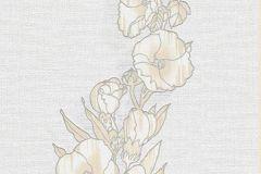 6433-14 cikkszámú tapéta.Virágmintás,bézs-drapp,szürke,lemosható,illesztés mentes,vlies tapéta