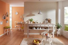 6423-04 cikkszámú tapéta.Egyszínű,narancs-terrakotta,lemosható,vlies tapéta