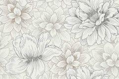5425-02 cikkszámú tapéta.Csillámos,különleges felületű,virágmintás,barna,bézs-drapp,fehér,gyöngyház,lemosható,vlies tapéta