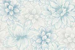 5425-08 cikkszámú tapéta.Csillámos,különleges felületű,virágmintás,fehér,gyöngyház,kék,lemosható,vlies tapéta