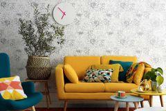 5425-10 cikkszámú tapéta.Csillámos,különleges felületű,virágmintás,ezüst,fehér,lemosható,vlies tapéta