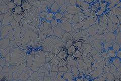 5425-15 cikkszámú tapéta.Csillámos,különleges felületű,virágmintás,kék,szürke,lemosható,vlies tapéta