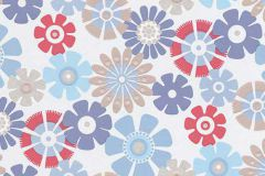 6448-08 cikkszámú tapéta.Csillámos,virágmintás,barna,kék,lila,piros-bordó,lemosható,vlies tapéta