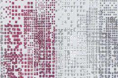 6450-06 cikkszámú tapéta.Absztrakt,csillámos,retro,fehér,pink-rózsaszín,piros-bordó,szürke,lemosható,illesztés mentes,vlies tapéta
