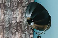 6450-15 cikkszámú tapéta.Absztrakt,retro,bézs-drapp,bronz,kék,szürke,lemosható,illesztés mentes,vlies tapéta