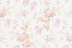 5825-05 cikkszámú tapéta.Virágmintás,lila,narancs-terrakotta,zöld,lemosható,vlies tapéta