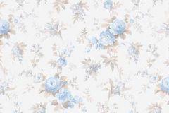 5825-08 cikkszámú tapéta.Virágmintás,bézs-drapp,fehér,kék,zöld,lemosható,vlies tapéta