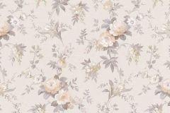 5825-09 cikkszámú tapéta.Virágmintás,barna,bézs-drapp,szürke,zöld,lemosható,vlies tapéta