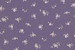 5827-45 cikkszámú tapéta.Virágmintás,lila,narancs-terrakotta,sárga,lemosható,vlies tapéta
