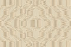 BT3405 cikkszámú tapéta.3d hatású,absztrakt,geometriai mintás,arany,bézs-drapp,súrolható,vlies tapéta