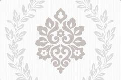 A23401 cikkszámú tapéta.Barokk-klasszikus,retro,ezüst,fehér,szürke,lemosható,vlies tapéta