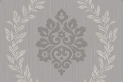 A23402 cikkszámú tapéta.Barokk-klasszikus,különleges felületű,retro,ezüst,szürke,lemosható,vlies tapéta