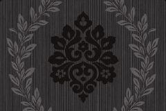 A23403 cikkszámú tapéta.Barokk-klasszikus,különleges felületű,retro,fehér,szürke,lemosható,vlies tapéta
