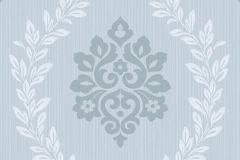A23404 cikkszámú tapéta.Barokk-klasszikus,különleges felületű,retro,kék,szürke,lemosható,vlies tapéta