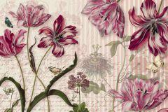 8-510 cikkszámú tapéta.állatok,csíkos,feliratos-számos,virágmintás,bézs-drapp,piros-bordó,zöld,gyengén mosható,papír poszter, fotótapéta
