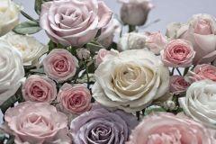 8-736 cikkszámú tapéta.Természeti mintás,virágmintás,fehér,lila,pink-rózsaszín,zöld,gyengén mosható,papír poszter, fotótapéta
