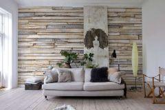 8-920 cikkszámú tapéta.Fa hatású-fa mintás,barna,bézs-drapp,szürke,gyengén mosható,papír poszter, fotótapéta