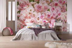 8-937 cikkszámú tapéta.Virágmintás,pink-rózsaszín,zöld,gyengén mosható,papír poszter, fotótapéta