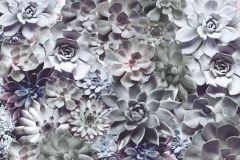 8-962 cikkszámú tapéta.Természeti mintás,virágmintás,fehér,lila,zöld,gyengén mosható,papír poszter, fotótapéta