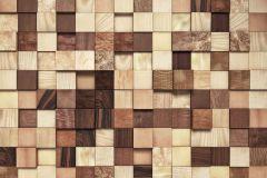 8-978 cikkszámú tapéta.Fa hatású-fa mintás,kockás,barna,bézs-drapp,gyengén mosható,papír poszter, fotótapéta