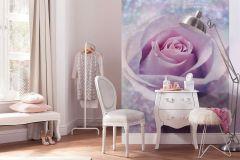 XXL2-020 cikkszámú tapéta.Virágmintás,kék,pink-rózsaszín,gyengén mosható,vlies poszter, fotótapéta