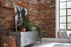 XXL4-025 cikkszámú tapéta.Kőhatású-kőmintás,barna,fehér,piros-bordó,szürke,gyengén mosható,vlies poszter, fotótapéta