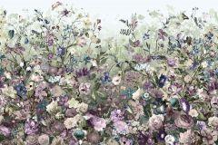 XXL4-035 cikkszámú tapéta.Tájkép,természeti mintás,virágmintás,fehér,kék,lila,türkiz,zöld,gyengén mosható,vlies poszter, fotótapéta