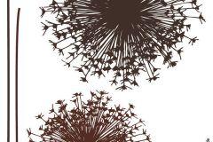 17004 cikkszámú tapéta.Rajzolt,természeti mintás,virágmintás,barna,anyagában öntapadós falmatrica