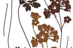 17005 cikkszámú tapéta.Természeti mintás,virágmintás,barna,bronz,anyagában öntapadós falmatrica