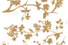 17015 cikkszámú tapéta.Természeti mintás,virágmintás,arany,barna,anyagában öntapadós falmatrica