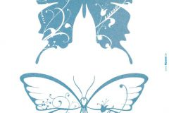 17017 cikkszámú tapéta.Gyerek,természeti mintás,fehér,kék,anyagában öntapadós falmatrica