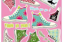 17044 cikkszámú tapéta.Feliratos-számos,gyerek,rajzolt,fehér,fekete,kék,lila,narancs-terrakotta,pink-rózsaszín,piros-bordó,sárga,szürke,türkiz,zöld,anyagában öntapadós falmatrica
