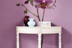 17702 cikkszámú tapéta.Virágmintás,fehér,lila,pink-rózsaszín,zöld,anyagában öntapadós falmatrica