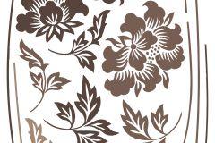17704 cikkszámú tapéta.Virágmintás,barna,bézs-drapp,anyagában öntapadós falmatrica