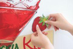 17711 cikkszámú tapéta.Feliratos-számos,konyha-fürdőszobai,piros-bordó,zöld,anyagában öntapadós falmatrica
