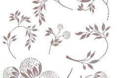 17712 cikkszámú tapéta.Virágmintás,barna,szürke,anyagában öntapadós falmatrica