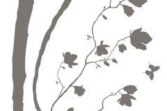 17714 cikkszámú tapéta.Természeti mintás,barna,szürke,anyagában öntapadós falmatrica