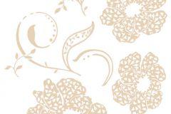 17715 cikkszámú tapéta.Természeti mintás,bézs-drapp,anyagában öntapadós falmatrica