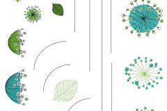 17723 cikkszámú tapéta.Természeti mintás,barna,kék,szürke,zöld,anyagában öntapadós falmatrica