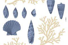 19001 cikkszámú tapéta.Természeti mintás,bézs-drapp,kék,anyagában öntapadós falmatrica