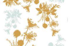 19002 cikkszámú tapéta.Természeti mintás,arany,kék,sárga,anyagában öntapadós falmatrica